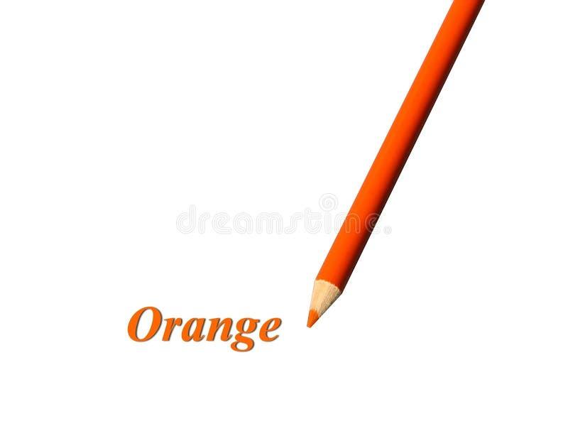 Oranje Potlood royalty-vrije stock fotografie