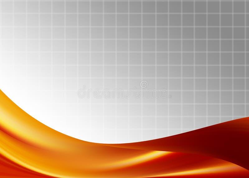 Oranje presentatie royalty-vrije illustratie