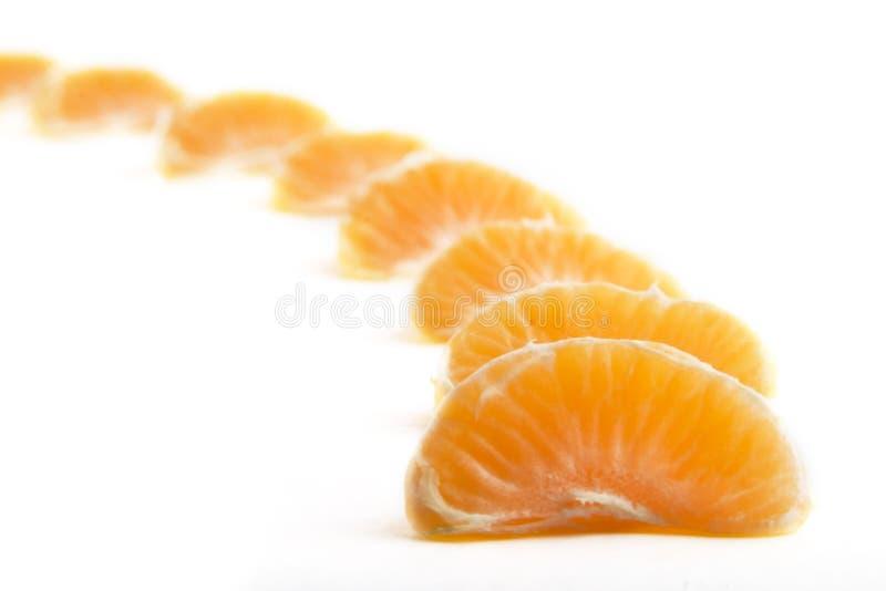 Oranje Rij stock foto's