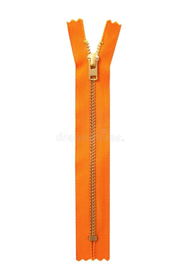 Oranje ritssluiting royalty-vrije stock afbeeldingen