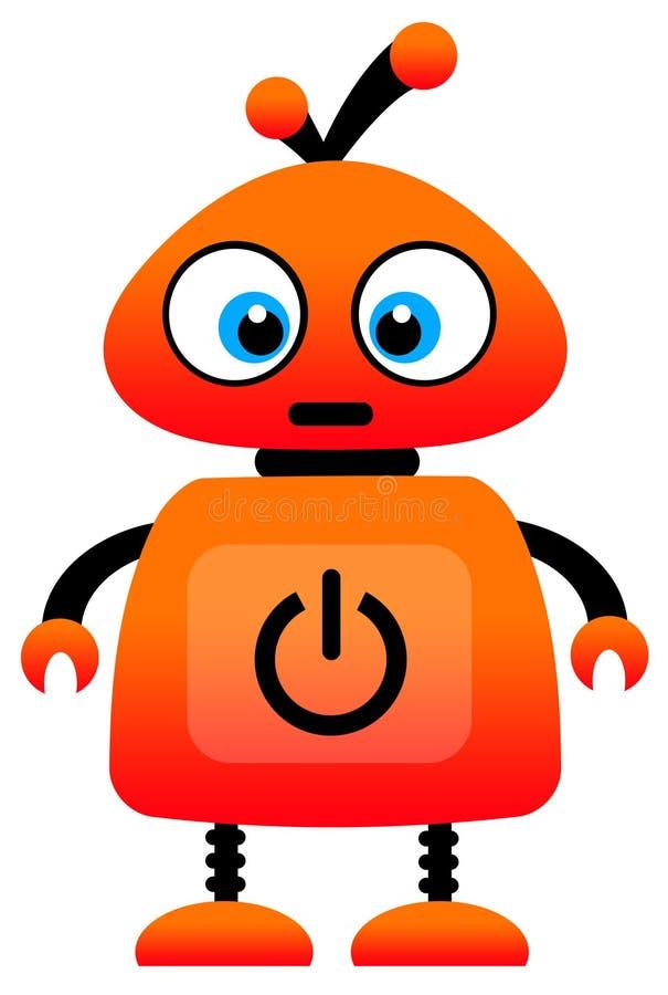 Oranje robot royalty-vrije illustratie