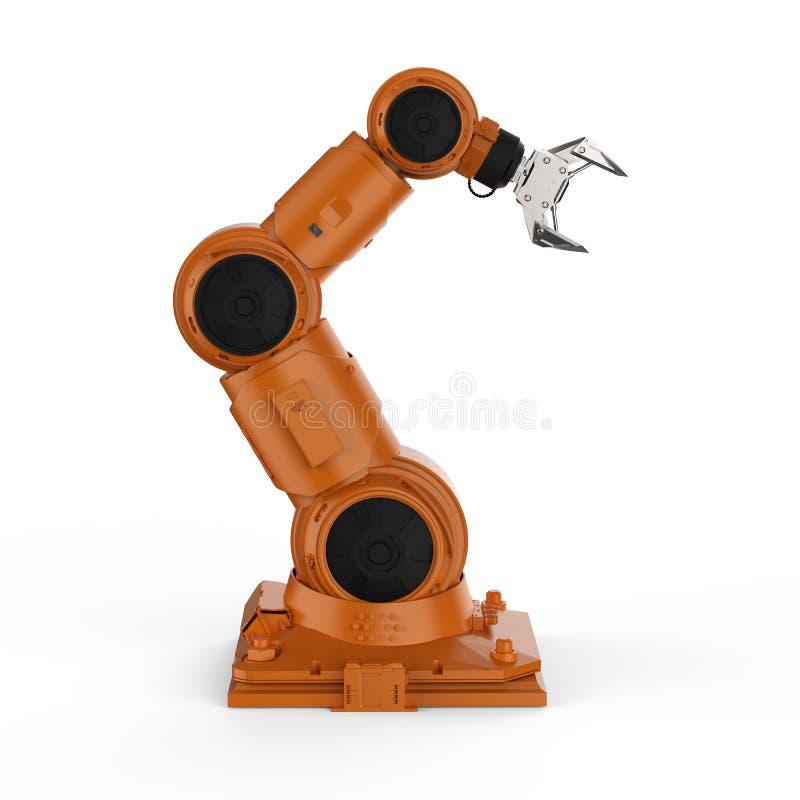 Oranje robotachtig wapen vector illustratie