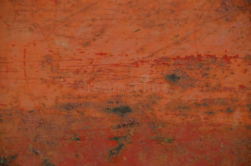 Oranje Roest met Krassen stock fotografie