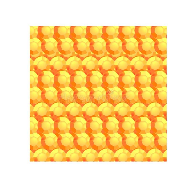 Oranje rond gefacetteerde stenen royalty-vrije illustratie