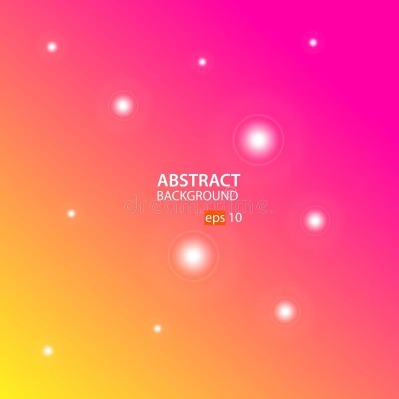 Oranje, Roze Abstracte Vector Als achtergrond royalty-vrije illustratie