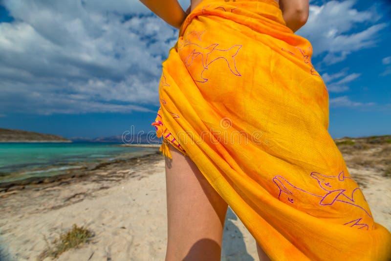 Oranje Sarongen stock afbeeldingen