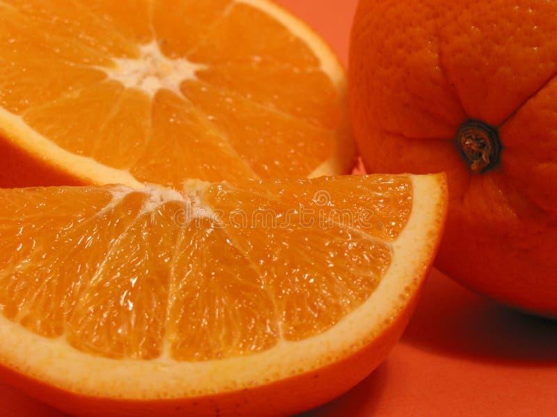 Oranje sinaasappelenclose-up 1 royalty-vrije stock fotografie