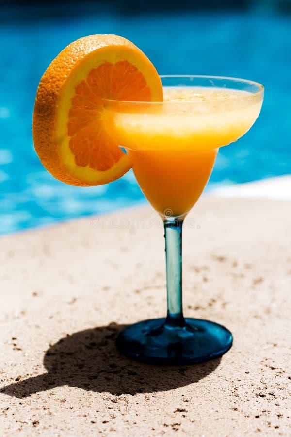 Oranje Smoothie royalty-vrije stock foto's