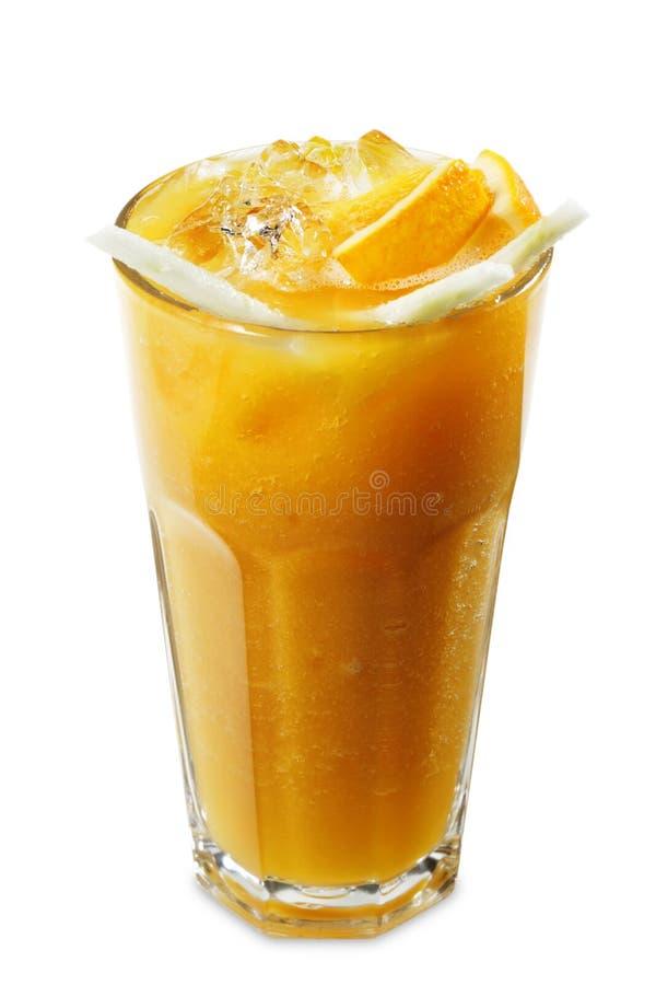 Oranje Smoothie stock afbeeldingen