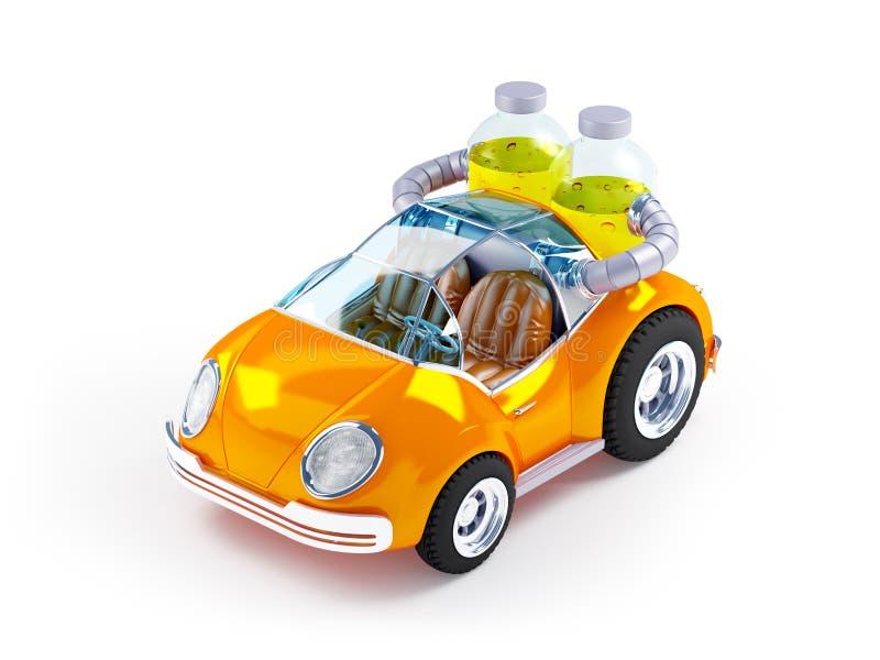 Oranje sodaauto royalty-vrije illustratie