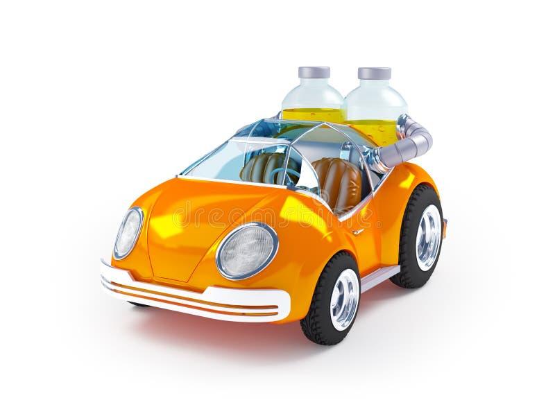 Oranje sodaauto stock illustratie