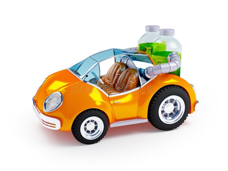 Oranje sodaauto vector illustratie