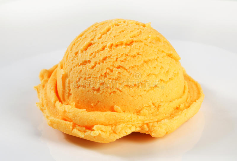 Oranje sorbet stock afbeeldingen