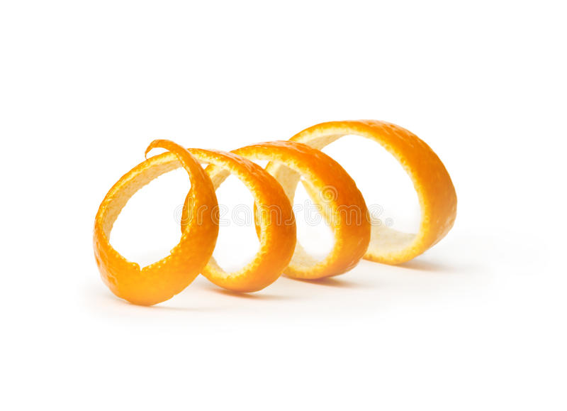 Oranje spiraalvormige schil stock afbeelding