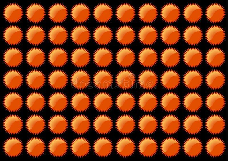 Oranje stergeklets. Vectorart. stock afbeelding