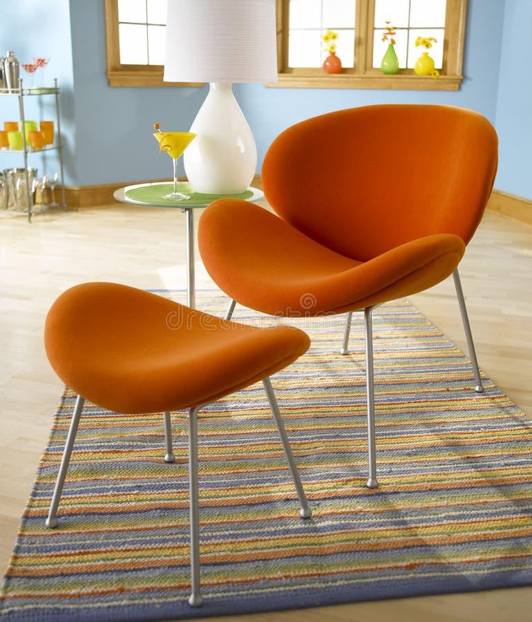 Oranje Stoel royalty-vrije stock foto