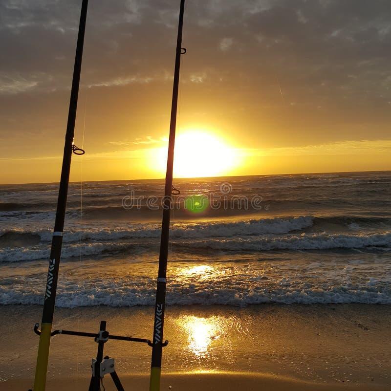 Oranje strand royalty-vrije stock fotografie