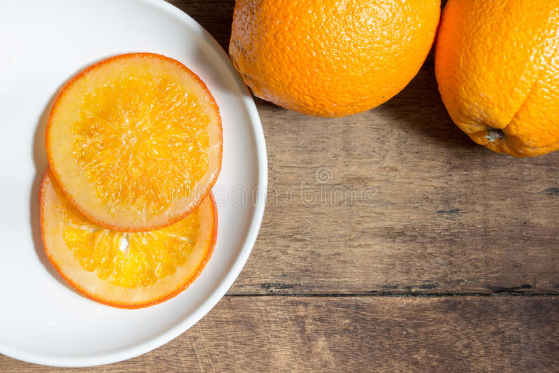 Oranje suikergoed stock foto