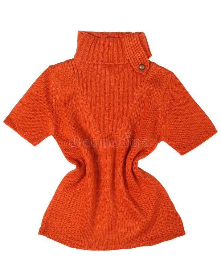 Oranje sweater stock foto's