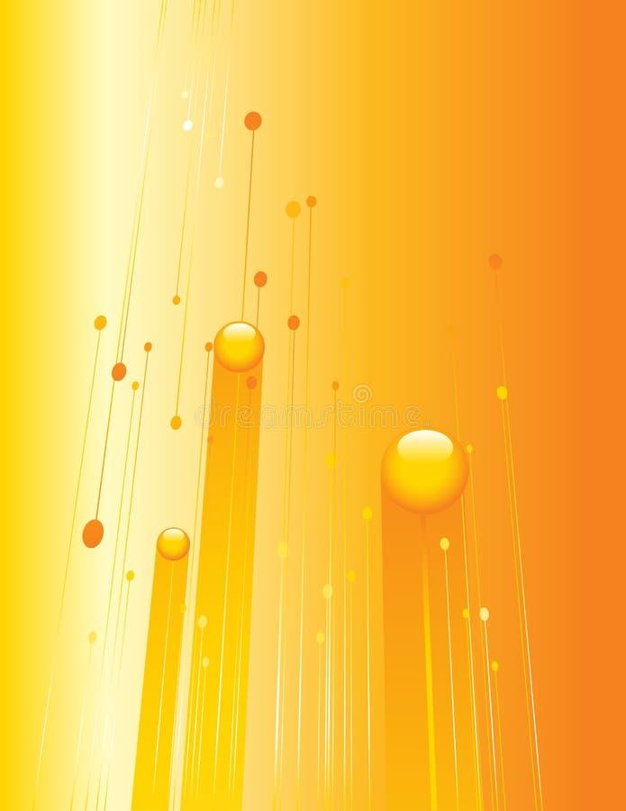 Oranje technologieachtergrond royalty-vrije illustratie
