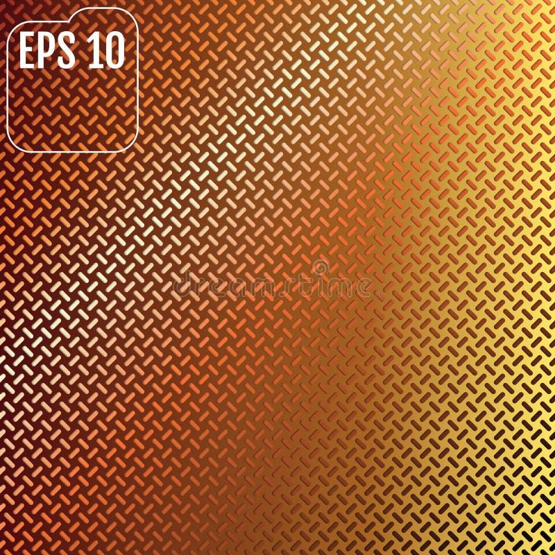 Oranje technologieachtergrond met geperforeerde plastic koolstof SP royalty-vrije illustratie
