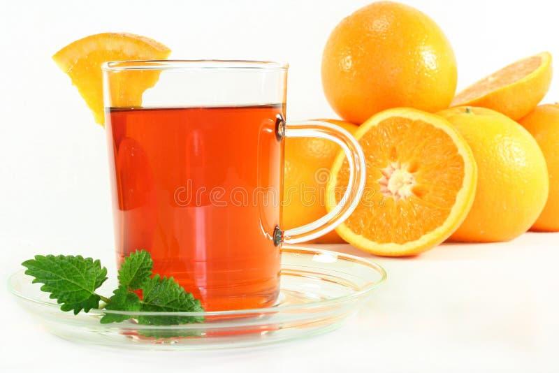 Oranje thee stock fotografie