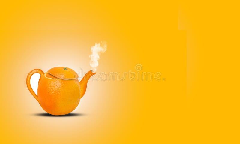 Oranje theekop royalty-vrije stock fotografie