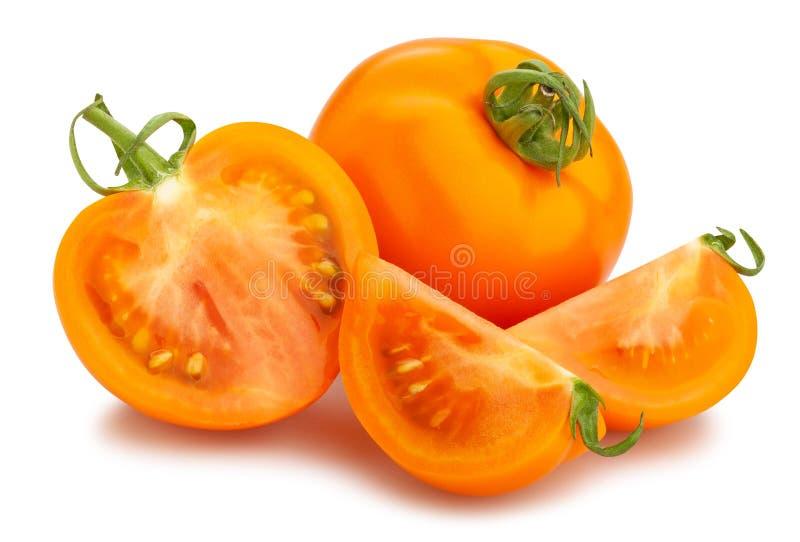 Oranje tomaat stock afbeelding