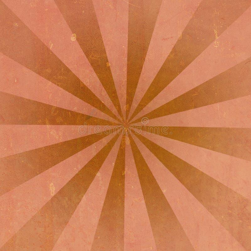 Oranje Uitstekende achtergrond stock illustratie