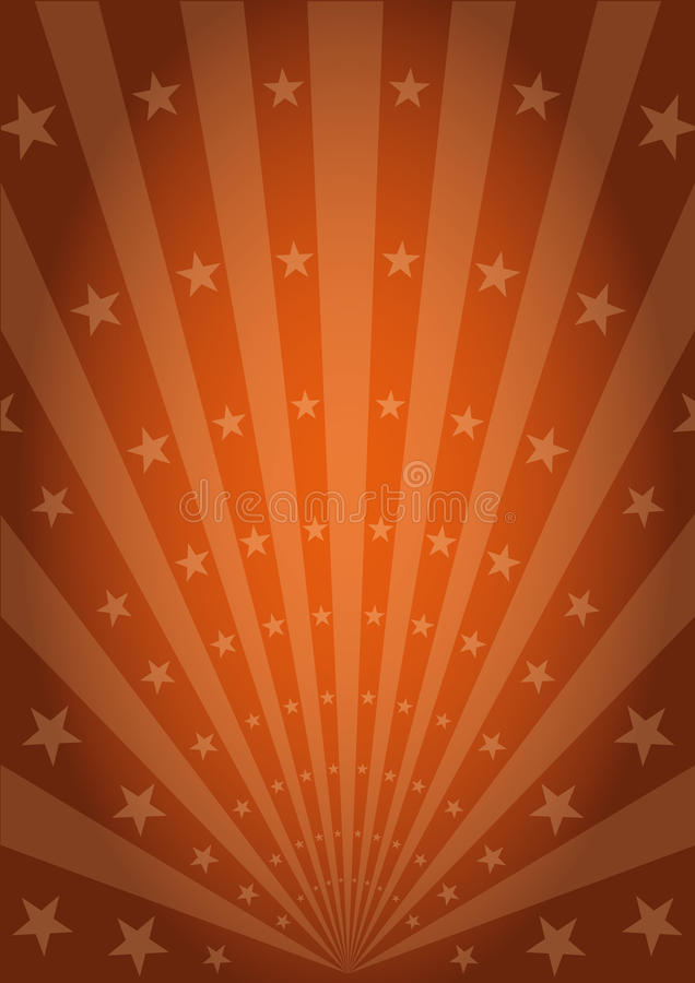 Oranje uitstekende zonnestralen stock illustratie