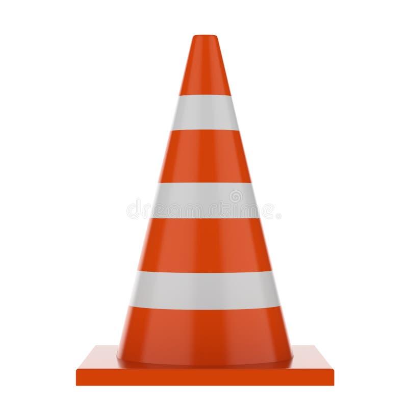 Oranje verkeerskegels vector illustratie