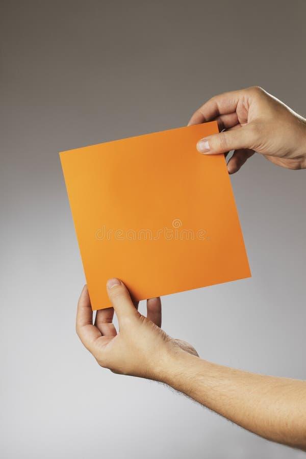 Oranje vierkant royalty-vrije stock fotografie