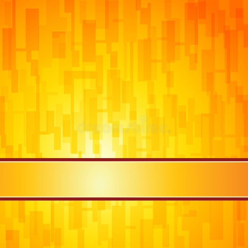 Oranje vierkanten retro achtergrond stock illustratie