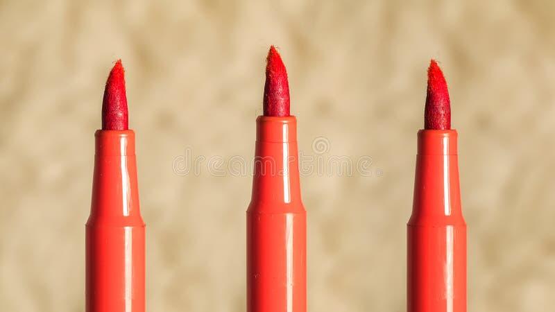 Oranje vilt-uiteinde verstoord tellersuiteinde royalty-vrije stock afbeelding