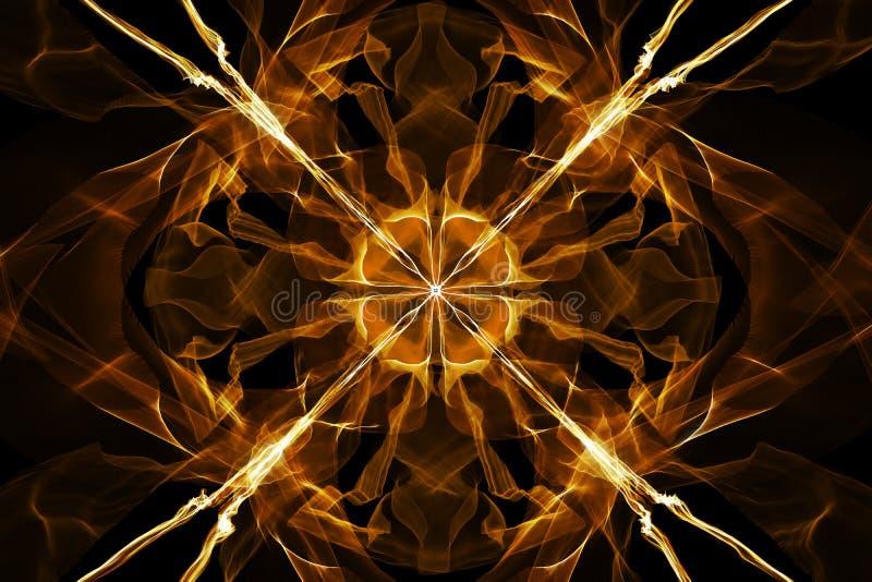 Oranje vlammenachtergrond royalty-vrije illustratie