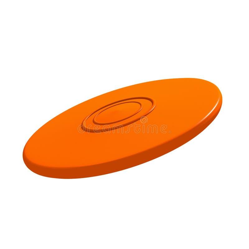 Oranje vliegende schijf vector illustratie