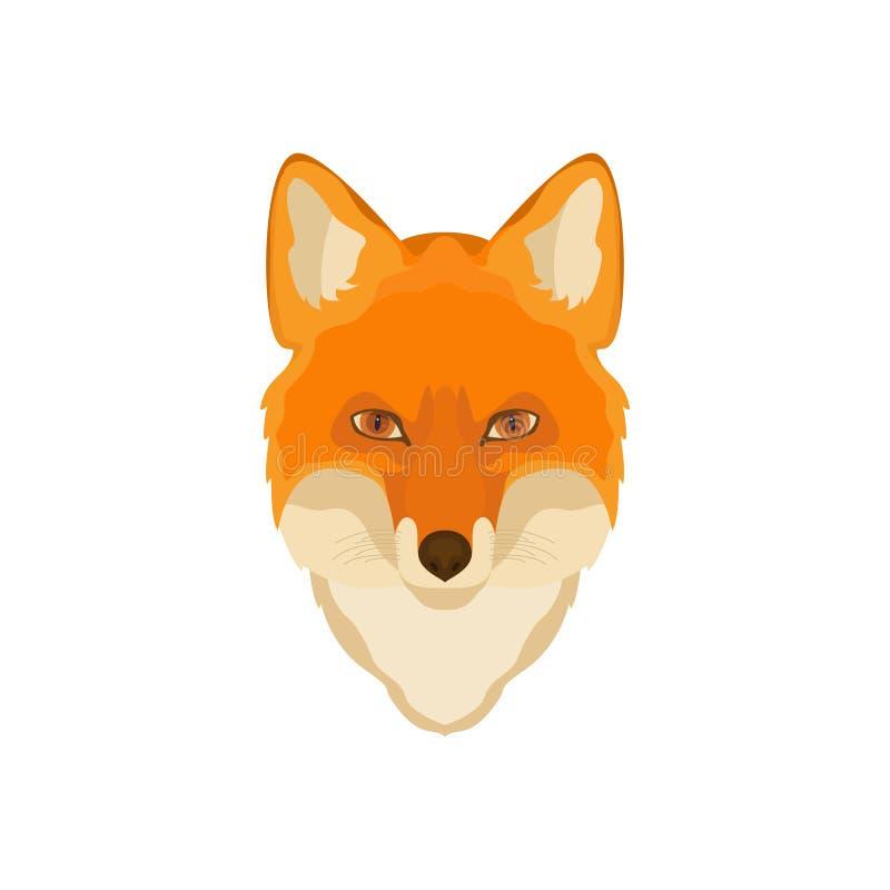 Oranje voshoofd Vector beeld vector illustratie