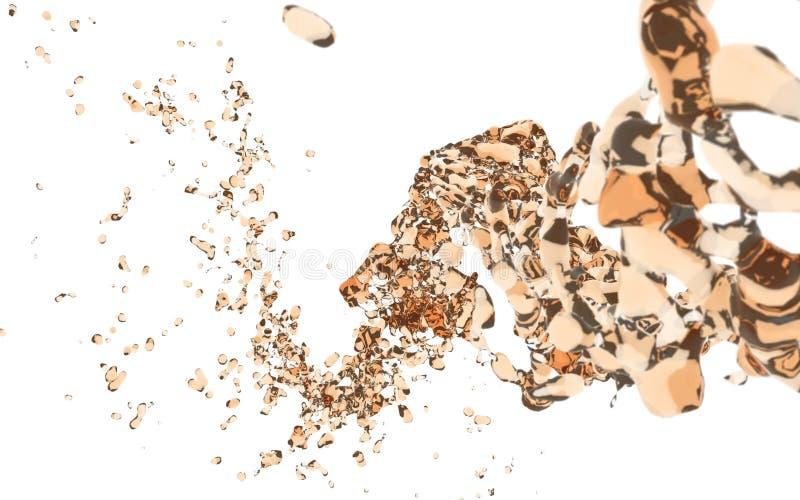 Oranje waterplons stock illustratie