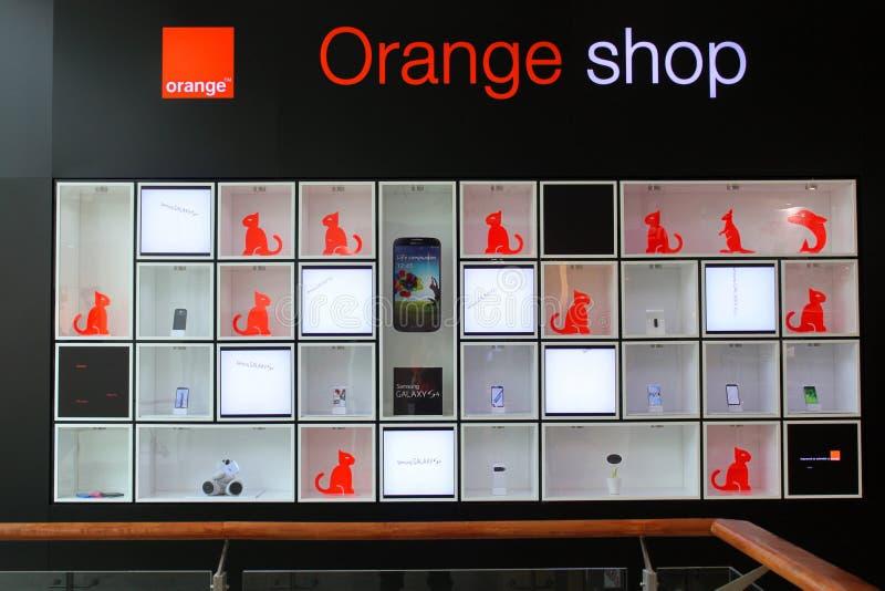 Oranje winkel royalty-vrije stock foto