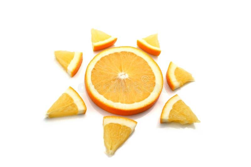 Oranje zon royalty-vrije stock afbeeldingen