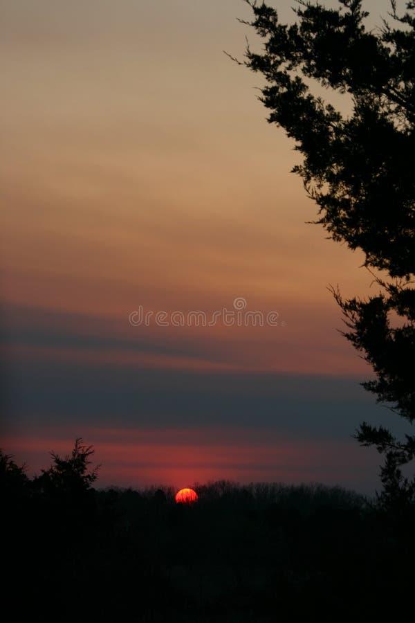 Oranje Zon stock foto's