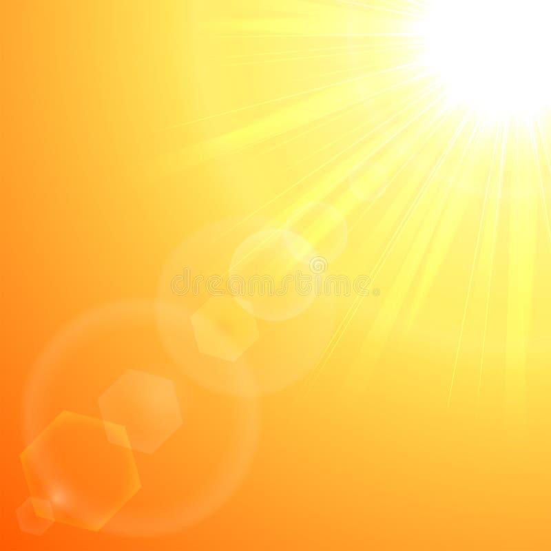 Oranje zonuitbarsting vector illustratie