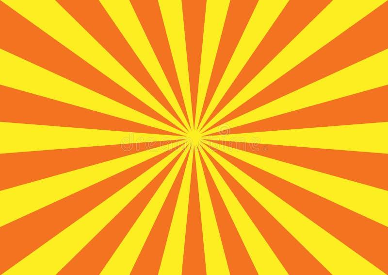 Oranjegeel starburstpatroon stock illustratie