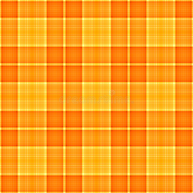 Oranjegele Plaid stock illustratie