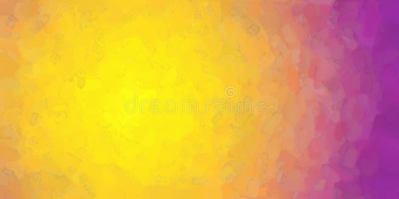 Oranjegele Purpere Waterverfachtergrond vector illustratie