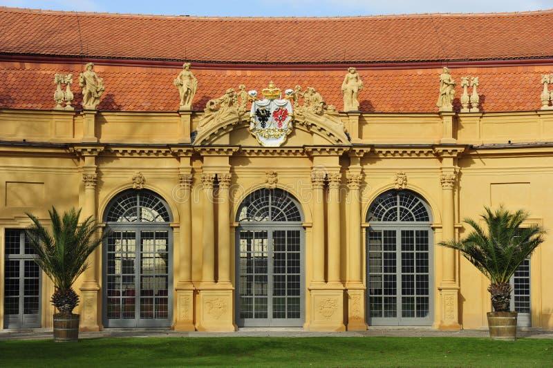 Oranjerie in Erlangen stock afbeelding