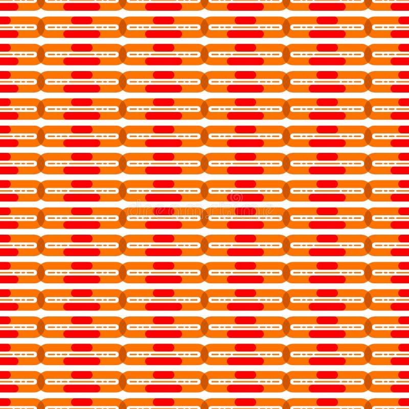 Download Oranjerood Naadloos Patroon Vector Illustratie - Illustratie bestaande uit achtergrond, kleur: 114227384