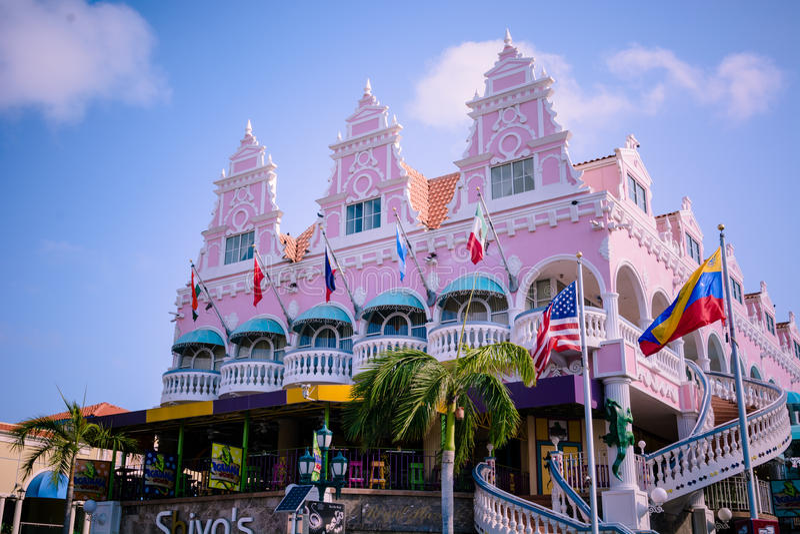 Oranjestad, Aruba immagine stock libera da diritti