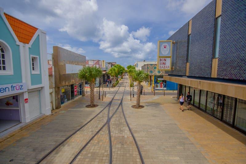 ORANJESTAD, ARUBA - NOVEMBER 05, 2015: Port used. ORANJESTAD, ARUBA - NOVEMBER 05, 2015: Downtown port and shopping disctrict used for tourism of cruise ships royalty free stock image
