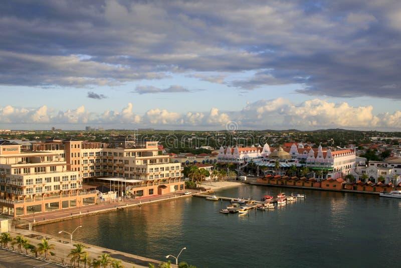 Oranjestad Harbor, Aruba royalty free stock images